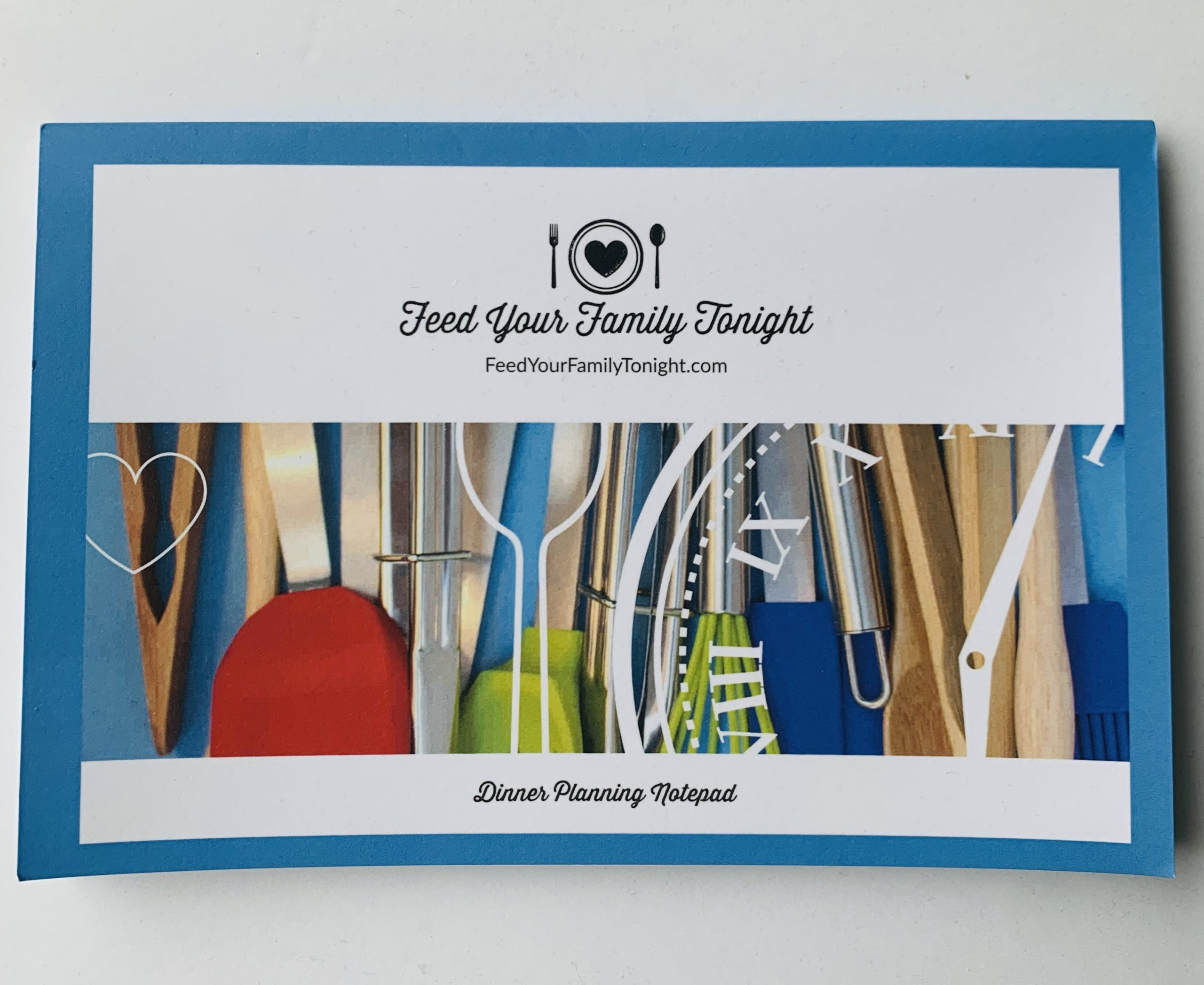 52 Sheet notebook with instructions for meal planning