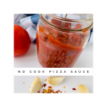 Shows texture of No Cook Pizza Sauce