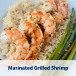 shows the texture of the grilled shrimp